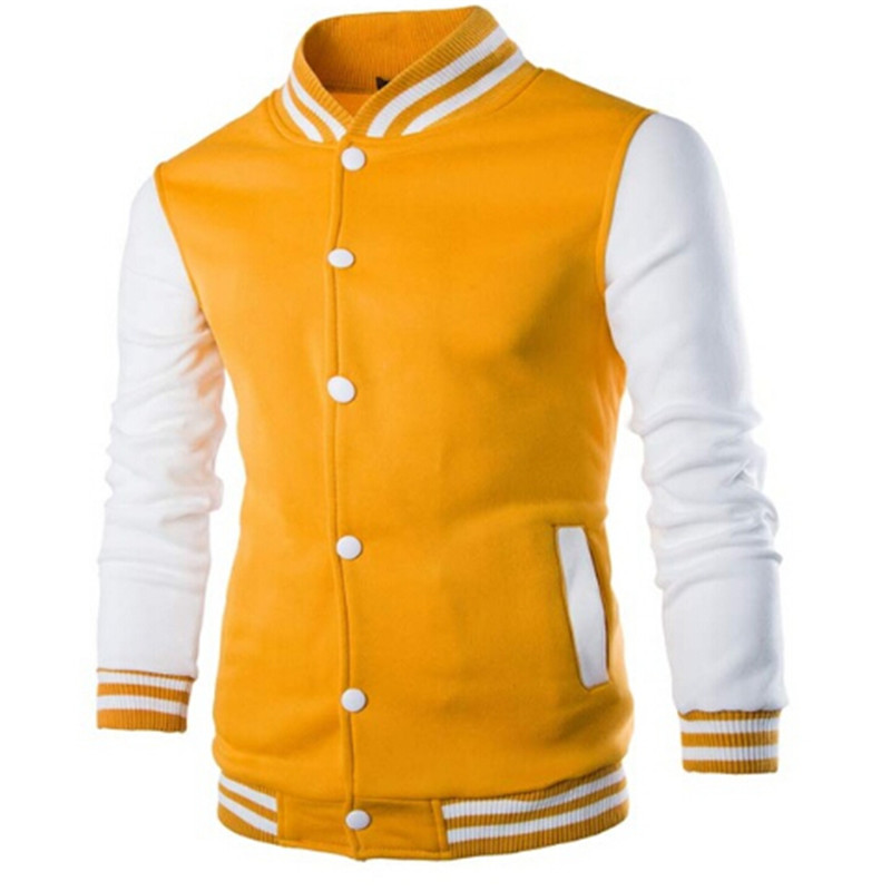 Baseball jacket yellow