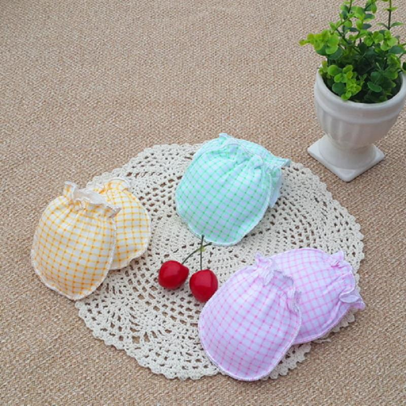 2Pairs Baby Mittens Bite Knitted Cotton Kids Stuff For Newborns Accessories Anti-Biting Fingers Scratch The Face Random