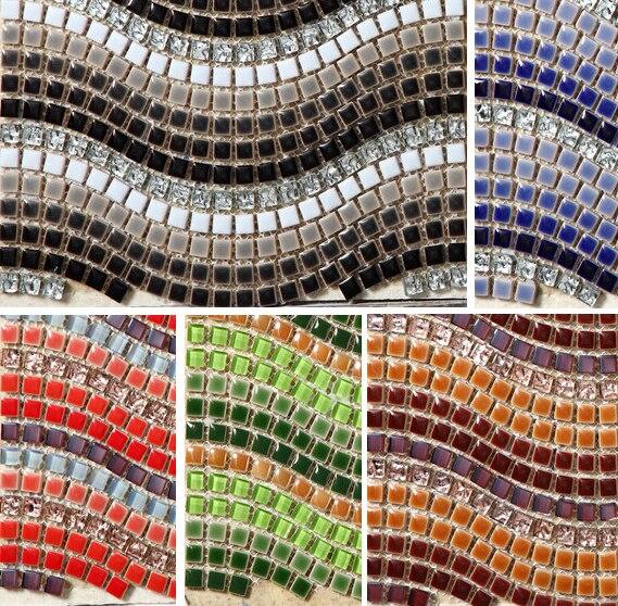 Welle Form Keramikmischglasmosaik Galvanik Kristall Glasmosaik Fliesen Küche  Backsplash Badezimmer Schlafzimmer Boden Kunst Design Aufkleber In Welle  Form ...