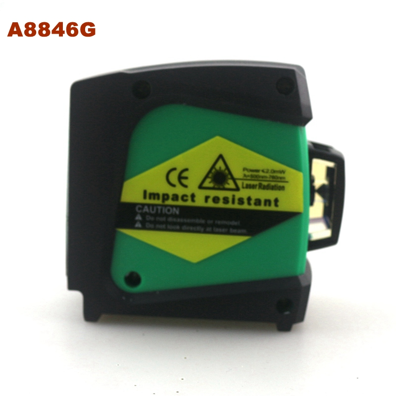 ACUANGLE A8846G 4 Green Line Laser Level Wall Meter 360 degree Self-leveling Rotary Level Laser Gravity Leveling Tools kapro laser level laser angle meter investment line instrument 90 degree laser vertical scribe 20 meters