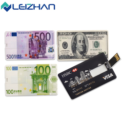 LEIZHAN USB Flash Drive 8G 16G 32G customized credit card USB Pen Drive 4G pendrive 64G personalized logo USB flash USB Stick