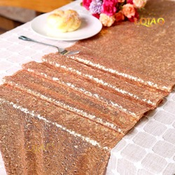 12x72/12x108 Sparkly Rose Gold/Silver/Navy/Pink/Red Table Runners for Wedding Party Christmas Decoration chemin de table mariage