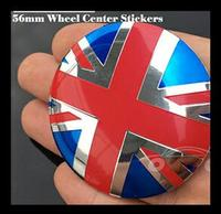 Hot 20pcs Set 56mm 2 20inch Modified For The Uk Jack Logo Stickers Car Wheel Hub