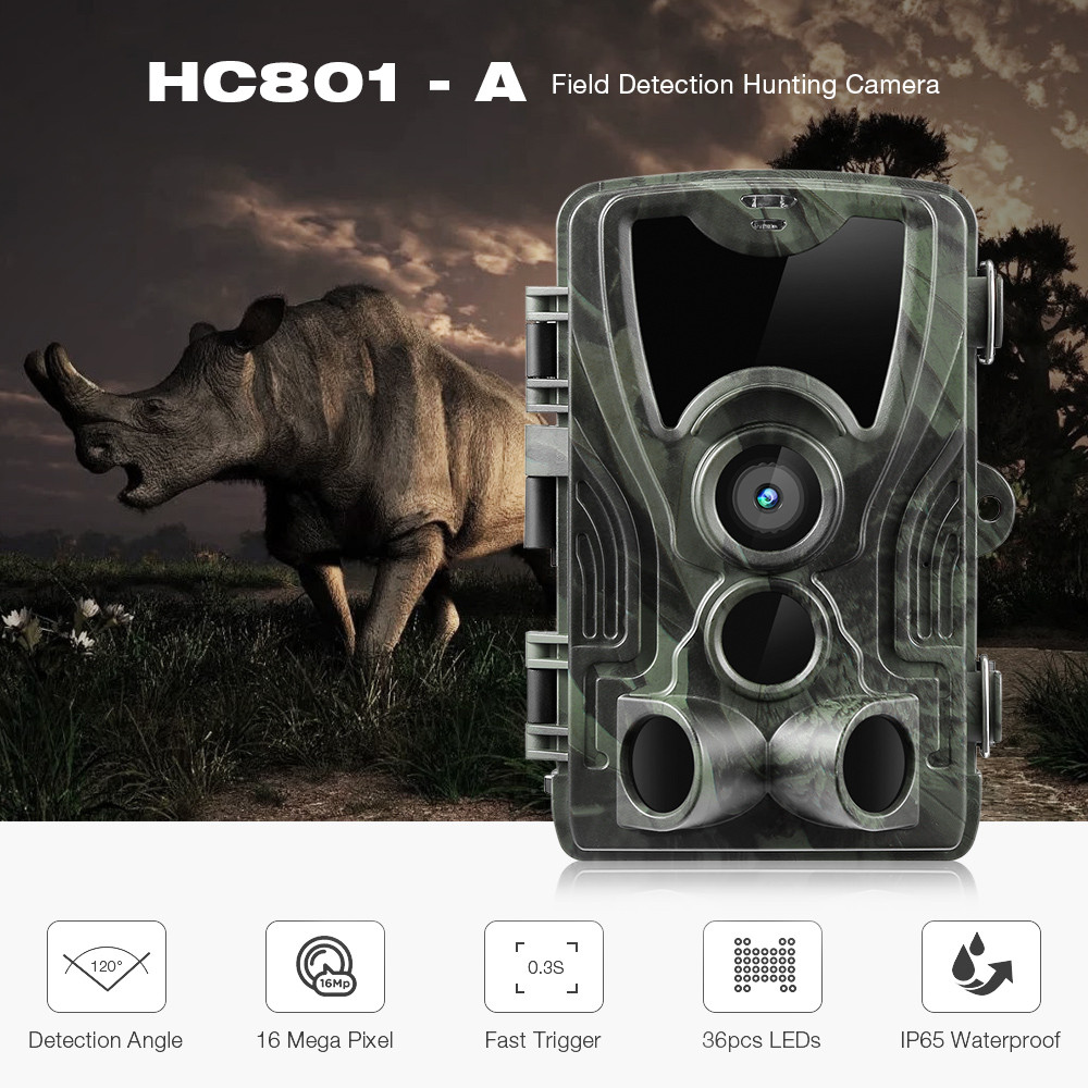 Outlife HC - 801A Hunting Camera 16MP 1080P IP65 Night Vision Hunting Trail Camera Waterproof Wildlife Photo Trap CameraOutlife HC - 801A Hunting Camera 16MP 1080P IP65 Night Vision Hunting Trail Camera Waterproof Wildlife Photo Trap Camera