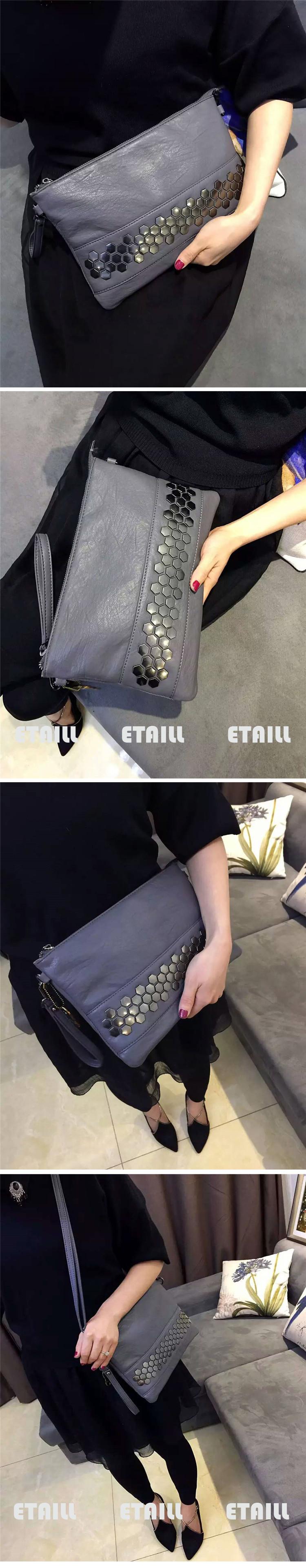Stud Envelope Clutch Luxury