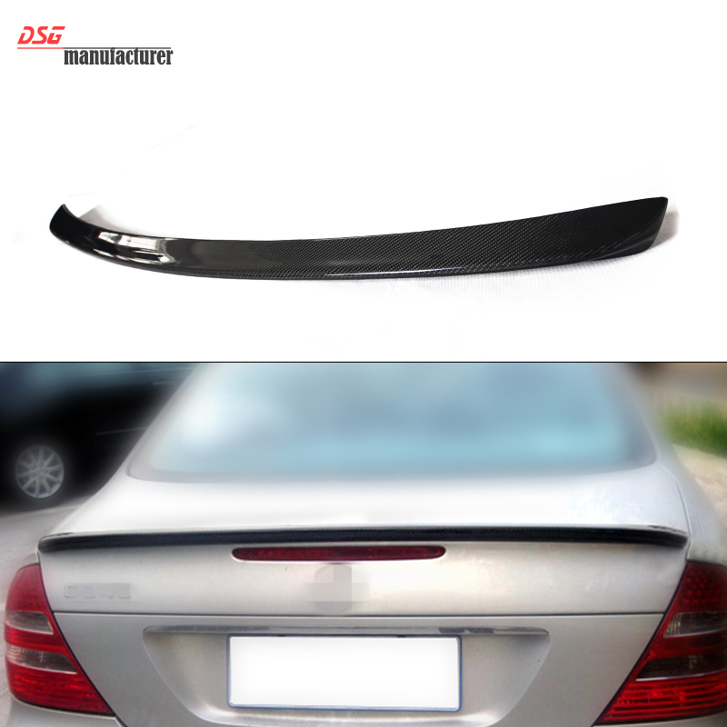 Mercedes W211 Carbon Fiber Trunk Spoiler Car Wing For Benz E class 2003-2009 E200 E220 E230 E240 E250 E270 E280 E300 E320 E350 цена