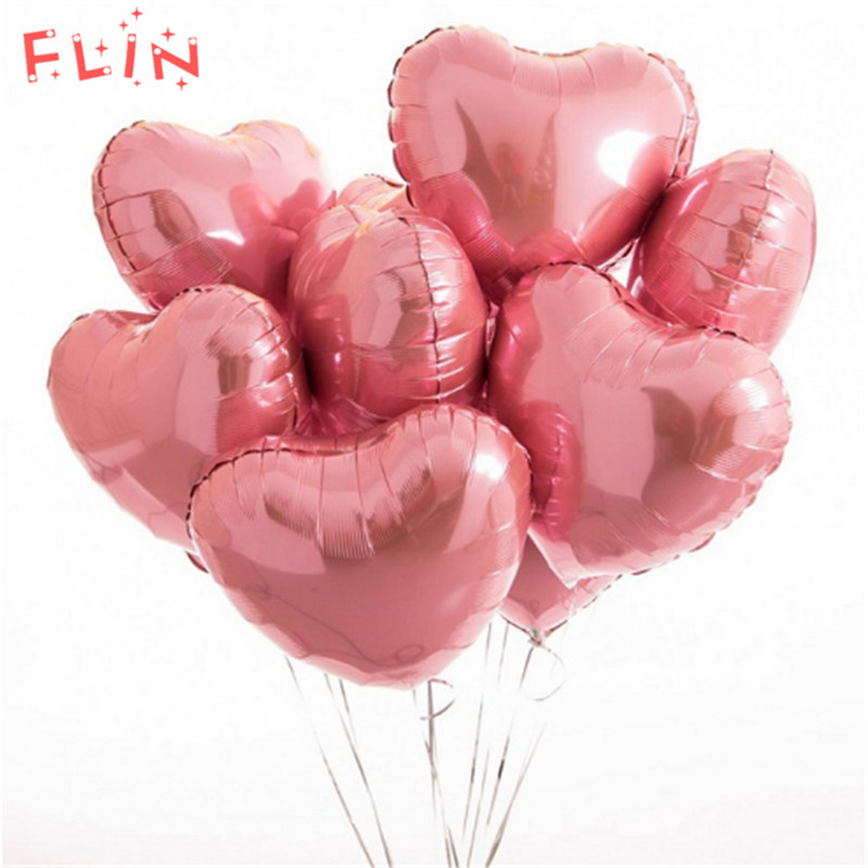 5pcs Heart Love Aluminum Inflatable Balloons Wedding Birthday Decoration Ballon Marriage Anniversary Event Party