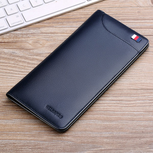 Image 5 - WILLIAMPOLO  Men Wallet Luxury Brand High Quality Male Purse Long Black Slim Thin Cowhide Clutch Designer Leather Genuine Wallet