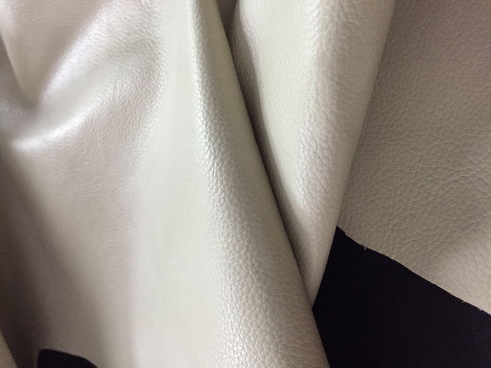 Личи шаблон Подлинная бежевый белый натуральной кожи ткани для мебели/багажа/обувь, бесплатная доставка