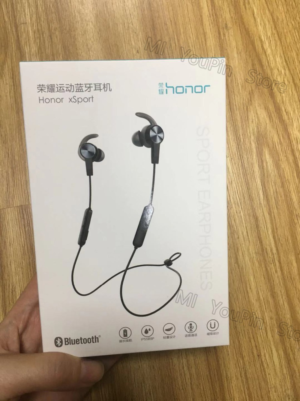Huawei Honor xSport Bluetooth Headset AM61 IPX5 Waterproof BT4.1 Music Mic Control Wireless Earphones for Android IOS D5 (1)