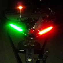 """2pcs 1"""" Водонепроницаемый светодиодный Понтонный навигационный светильник для лодки, яхты"""