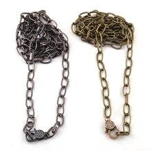 Модные звенья цепи циркон проложить Омаров застежка ожерелье