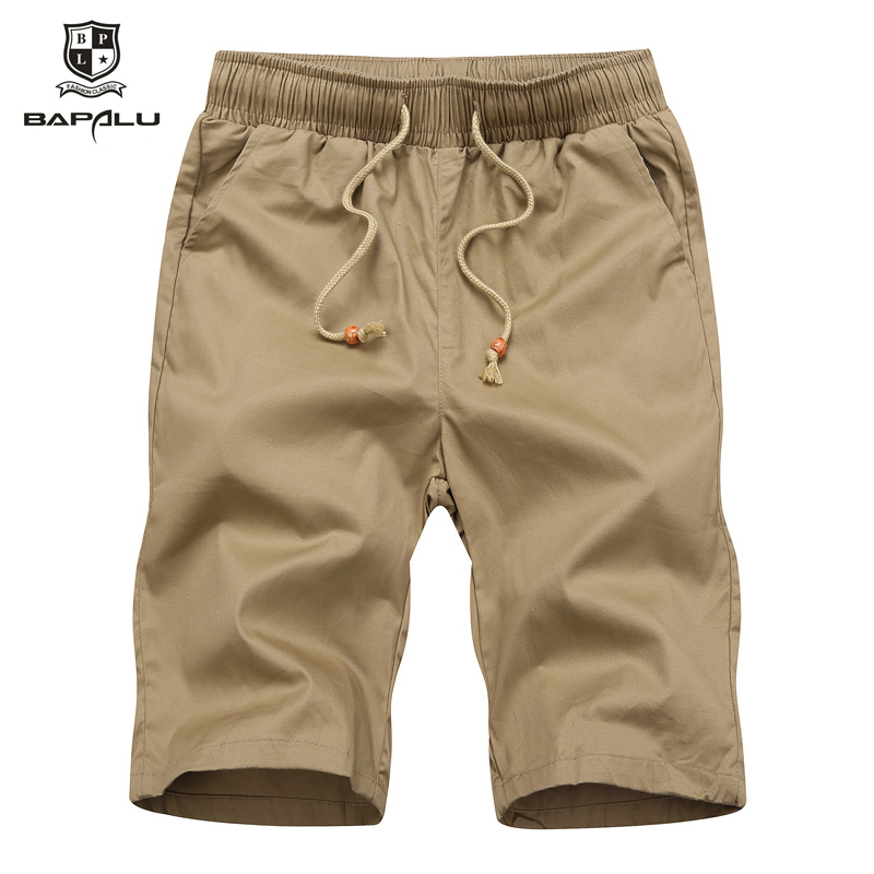 Summer men's washed solid color shorts men's casual five points beach shorts 508