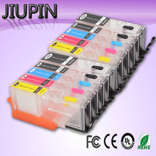 цена на JIUPIN 650 651PGI-650XL CLI-651 XL Ink Cartridges with Auto reset chips For Canon PIXMA iP7260 MG5460 MX726 printer