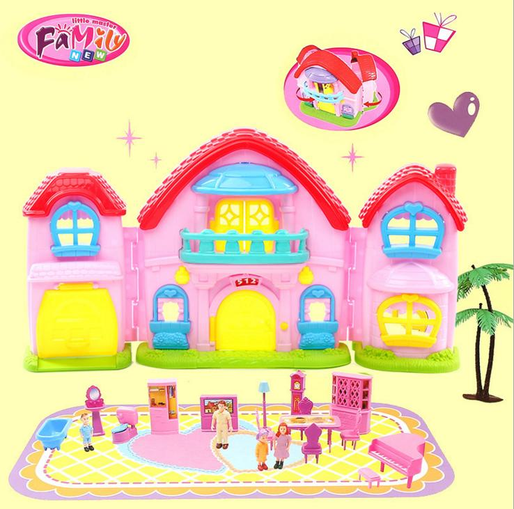 Big size cute doll house for girls birthday gifts for Big cute houses