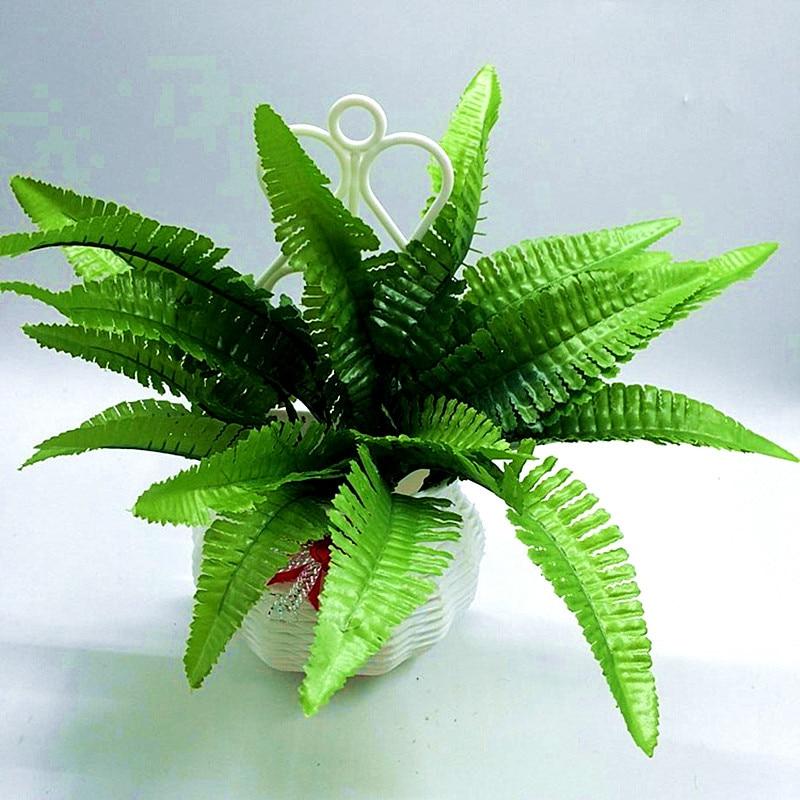 2017 Prodej Real dekorace 1ks Umělá kapradina Kytice hedvábných rostlin Falešná 7 perských listů Listy Květinová aranžmá Home Decor