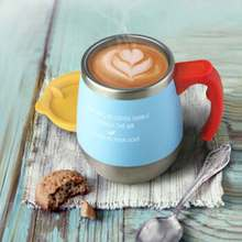 Oneday kaffeetasse thermoskanne wasser tasse liebhaber tasse büro tasse mit deckel schwarz edelstahl wasser-becher