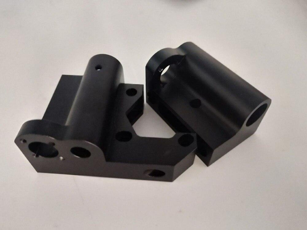 Funssor 1set Prusa I3 MK2/MK3 Black Anodized Aluminum X Motor/X Idler Kit Metal X End Motor/end Idler