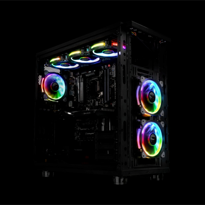 12V 3 Pin LED RGB Light 120mm PC CPU Case Cooling Fan Cooler Silent Heatsink New Colorful RGB LED Light For Intel DIY Computer 1 piece jonsbo fr 201p 120mm pc case cooler cpu fan radiators computer cooling fan led light 4pin pwm for intel amd diy mod