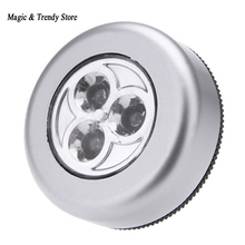 Qualified 3 LED 4 Led Wall Light Kitchen Cabinet Closet Lighting Sticker Tap Touch Lamp Lamps