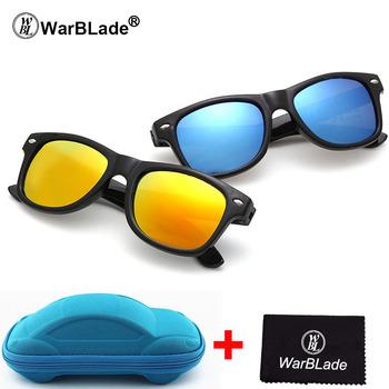 WarBLade okulary przeciwsłoneczne dla dzieci okulary przeciwsłoneczne dla dzieci chłopcy dziewczęta okulary UV 400 ochrona z futerałem prezent dla dzieci tanie i dobre opinie 36mm Antyrefleksyjną Lustro UV400 Poliwęglan Gogle A-CY1017-with case Dziewczyny Z tworzywa sztucznego 56mm Chiny (kontynentalne)