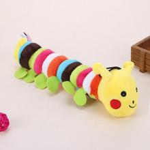 Plush Stuffed Pet Dog Toys Sound Cute Longworm Chew Squeak Toys for Dogs Teeth Cleaning Cats Dog Products Chewing Toy