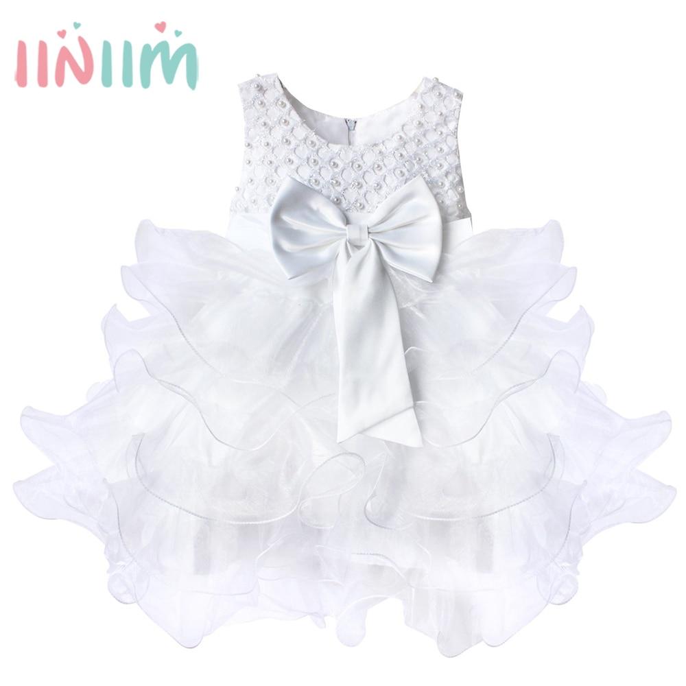 Baby girl pink sequin dress - White Vestidos Dress For Girls Cute Infant Newborn Baby Girl Dress Sequined Dresses Bow Princess Vestido
