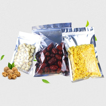300pcs 20x30cm Foil Flat Ziplock Bags Clear Plastic Bags Pe Zip Lock Bag For Cloth/food/gifts/Jewelry Packaging Display Bag