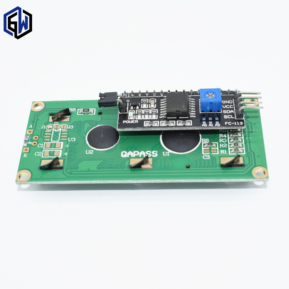 TENSTAR ROBOT LCD1602 I2C LCD 1602 module Blue screen IIC I2C for arduino LCD1602 Adapter plate