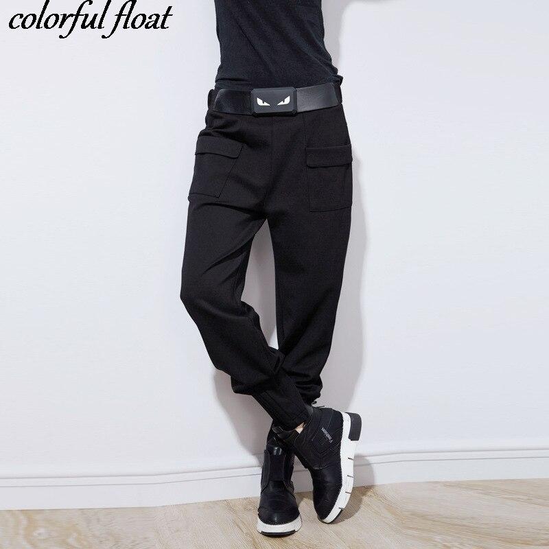 Broek 2017 herfst en winter modellen gepersonaliseerde riem decoratie ineenstorting broek mode casual Harlan broek 8600-in Broek & capris van Dames Kleding op AliExpress - 11.11_Dubbel 11Vrijgezellendag 1