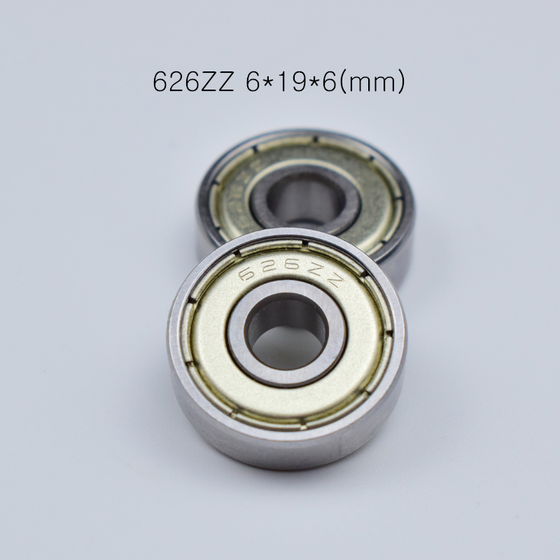 626ZZ 6*19*6mm 10pieces ABEC-5 Bearings 10pcs Metal Sealed Miniature Bearing Free Shipping 626 626Z 626ZZ Chrome Steel Bearing