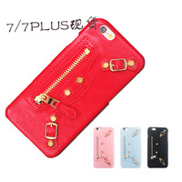 3D Soft TPU Cool Rock Punk Spikes Stud Rivet Metal Zipper Phone Case Cover For Iphone