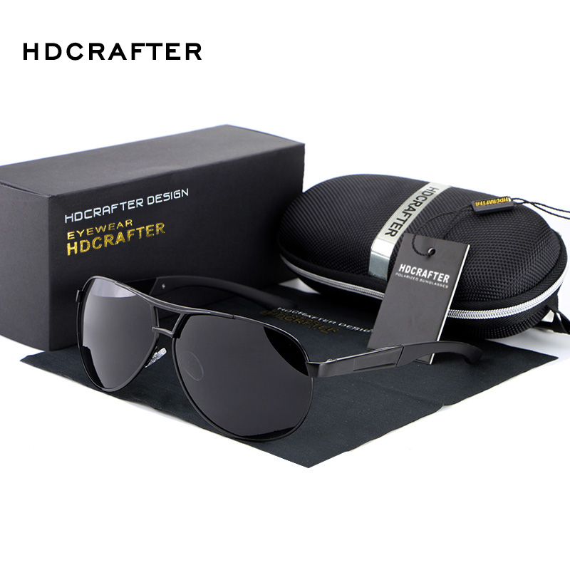 HOT HDCRAFTER 2017 di Modo polarizzati degli uomini occhiali da sole uv400 uomo occhiali da pilota per la guida