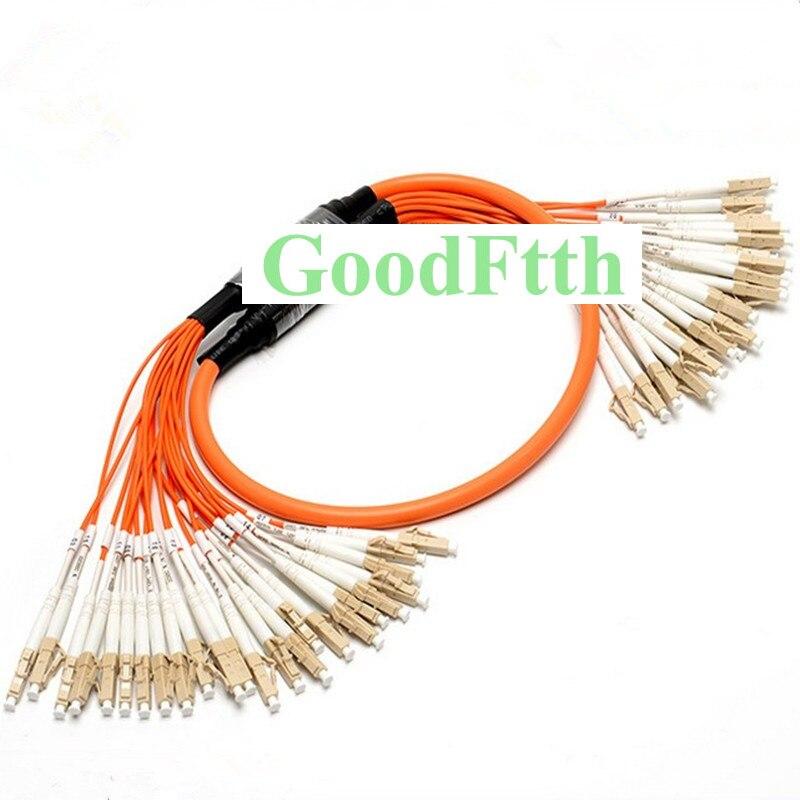 Patch Cord Jumper de fibra Multimodo LC-LC 50/125 OM2 Tronco Fuga 2.0 milímetros Núcleos 24 GoodFtth 30-100m