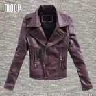 3 Colors genuine leather jackets women sheepskin motorcycle jacket coats outwear giacca jaqueta de couro chaqueta mujer LT195