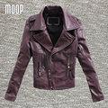 3 Colores de cuero genuino chaquetas de las mujeres 100% de piel de cordero chaqueta de la motocicleta abrigos veste cuir pour femme verdadera abrigos mujer LT195