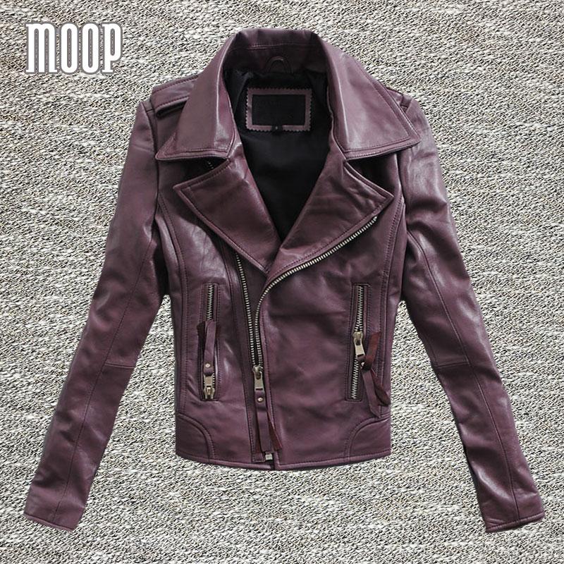 3 Colors genuine leather font b jackets b font font b women b font sheepskin motorcycle