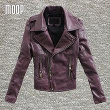 3 Colors genuine leather jackets women sheepskin motorcycle jacket coats outwear giacca jaqueta de couro chaqueta