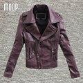 3 Cores genuine jaquetas de couro das mulheres 100% da pele de carneiro da motocicleta jaqueta casacos veste cuir verdadeiros pour femme abrigos mujer LT195