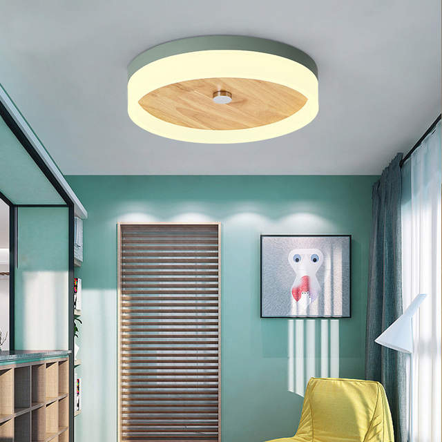 Led Ceiling Lamp Colorful Nordic