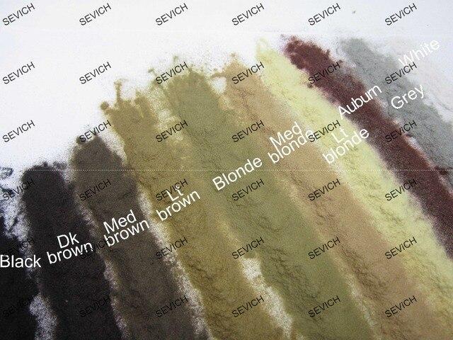 OEM Retail Box SEVICH Hair Fiber Keratin Powder Thin Loss Hair Thickening Spray 100ml+25g Fiber+Hairline Optimizer 10colors