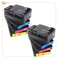 8 Pack Compatible For HP 932 933 Ink Cartridges 932XL 933XL OfficeJet 6100 6600 6700 7110