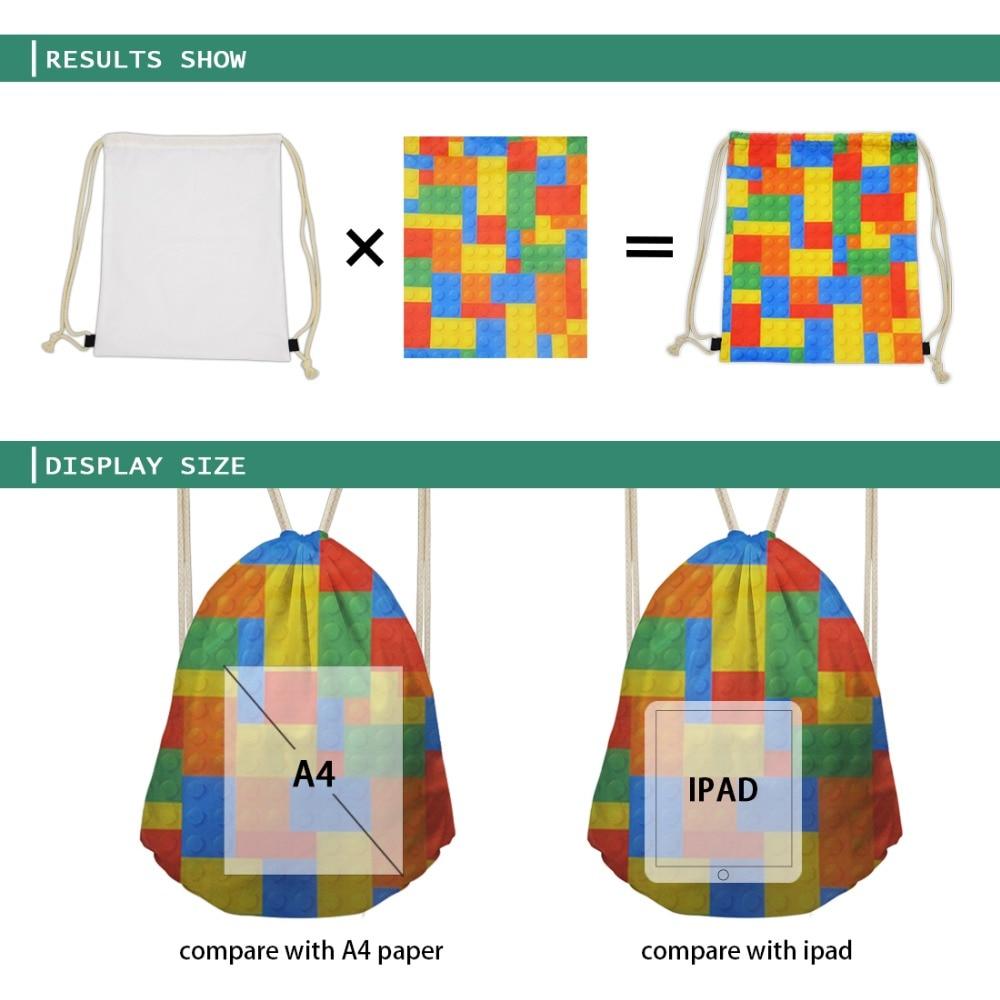 impressão drawstring mochila para crianças portátil pequeno