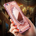 Luxury Diamond Mirror TPU Case For iPhone 6 6S 6plus iphone7 case For iPhone 7/7Plus 5 5s SE Rhinestone Plating Back Cover Coque