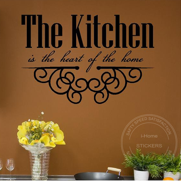 The kitchen is the heart of the home wall art vinyl decal sticker personalised