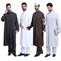 2016 Новое Поступление Горячей Продажи Взрослый Исламской Муёской Абая Мусульманский одежда Мужчины 2017 Хуэй Мусульманские мужская Этнические Арабские мужские Халаты абая