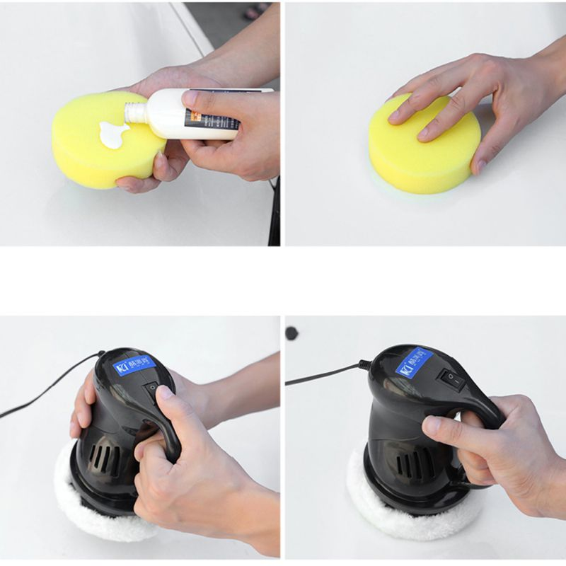 DC 12V Mini Waxing Dual Action Car Auto Polisher With 5 and 6 Car Paint Care Repair Polisher Tools for Car Scratch Remover