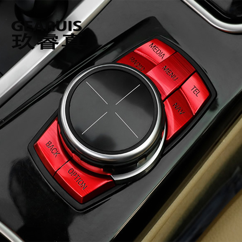 Auto Styling Multimedia Tasten Abdeckung Aufkleber Knopf Rahmen Dekoration Für bmw f30 f10 f20 f25 f07 x1 x3 x5 x6 1/2/3/4/5/6/7 Serie