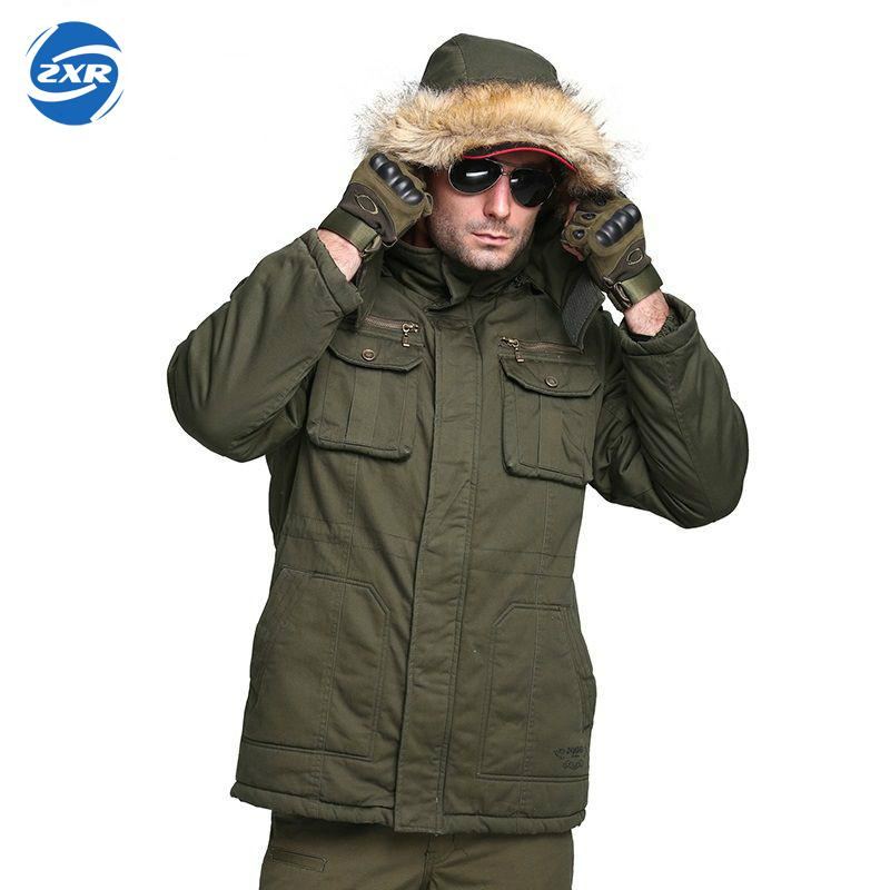 Zuoxiangru Men Winter Camouflage thermal thick Coat parka Military Tactical Hooded Jacket Waterproof Hunting Hiking outwear