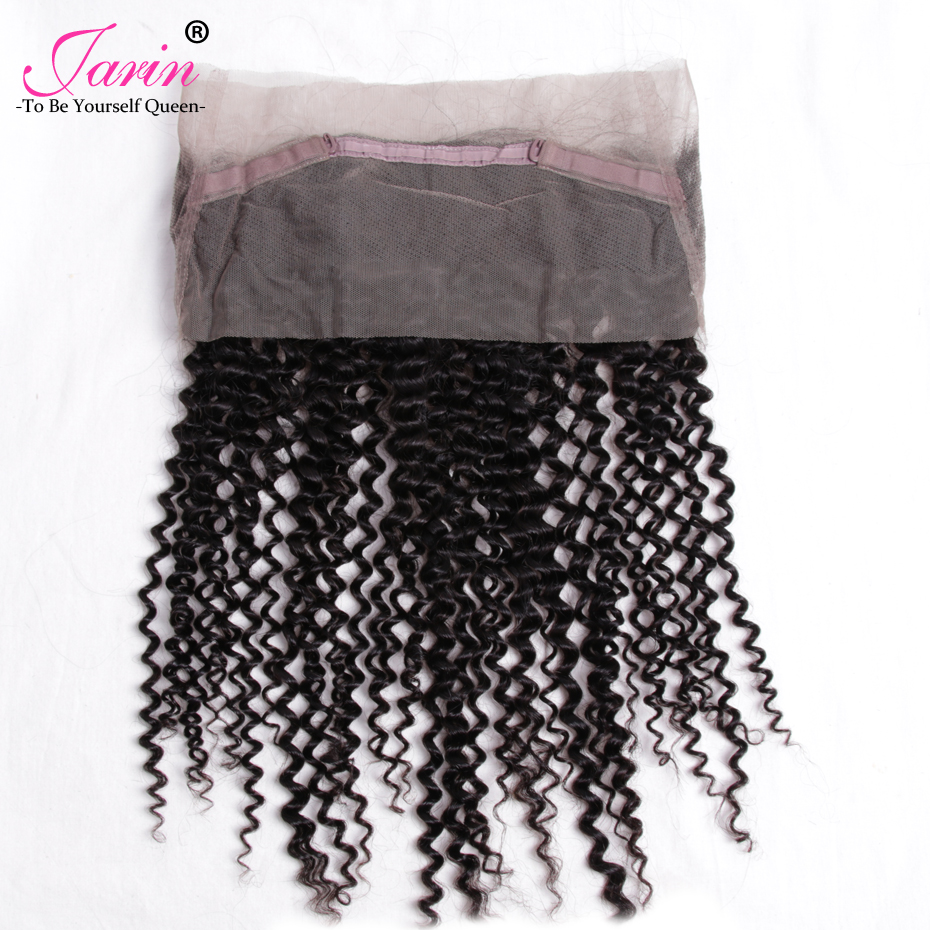 Brazilian Kinky Curly non Remy Hair 360 Loop Lace Frontal Closure No Shed No Tangle Can Be Dyed Bleached Human Hair Extension